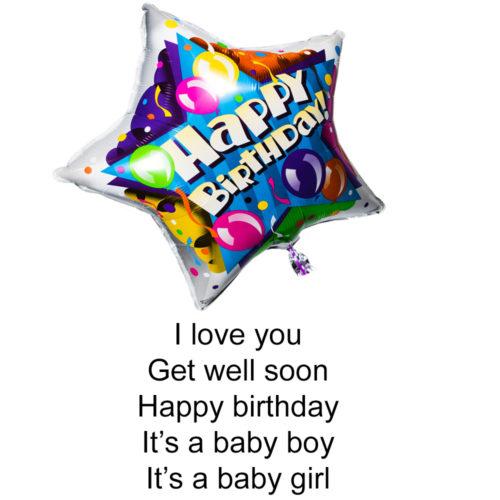 330029 foil balloon with helium filled 45cm Happy Birthday Balloon Helium Balloon